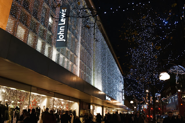 London Oxford St Christmas John Lewis Christmas Lights