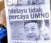 Melayu tidak percaya Umno.  Umno pengkhianat