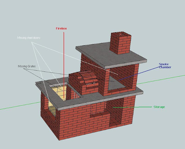 Brick vector picture brick smoker plans - Building an outdoor brick barbecue ...