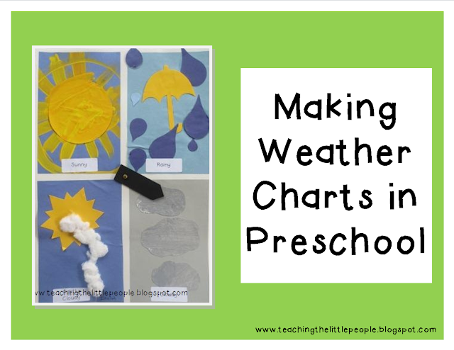 Making Weather Charts in Preschool : teachingthelittlepeople.com