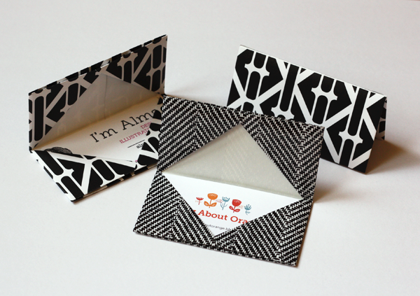 How to make an origami business card holder how about orange heres a quick and easy origami project a business card case or gift card holder use patterned gift wrap i like heavier weight wrapping paper for a colourmoves