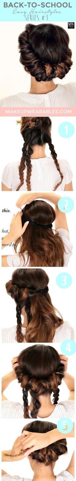 Minute Braided Headband # Updo # Hairstyle