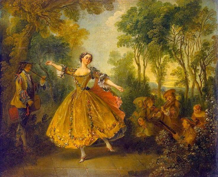 Nicolas Lancret Mlle Camargo Dancing