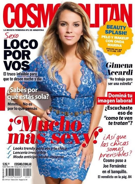 Gimena Accardi Photos from Cosmopolitan Argentina Magazine Cover February 2014 HQ Scans