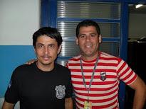 Valdi Salles e o Agente Civil Eulinaldo da DP de Brejo da Madre de Deus