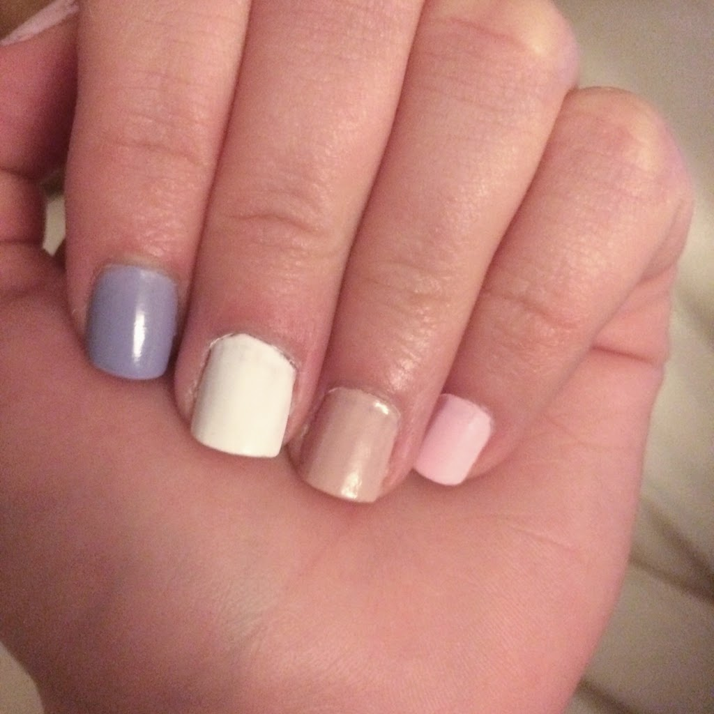 a picture of Essie Lilacism, Blanc, Topless & Barefoot, Fiji (swatch)