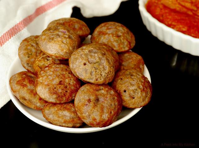 Ragi (Finger Millet) Kuzhi Paniyaram ~ Day 26