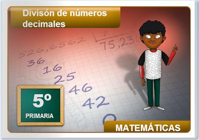 División de números decimales,Matemáticas,decimales,numeración