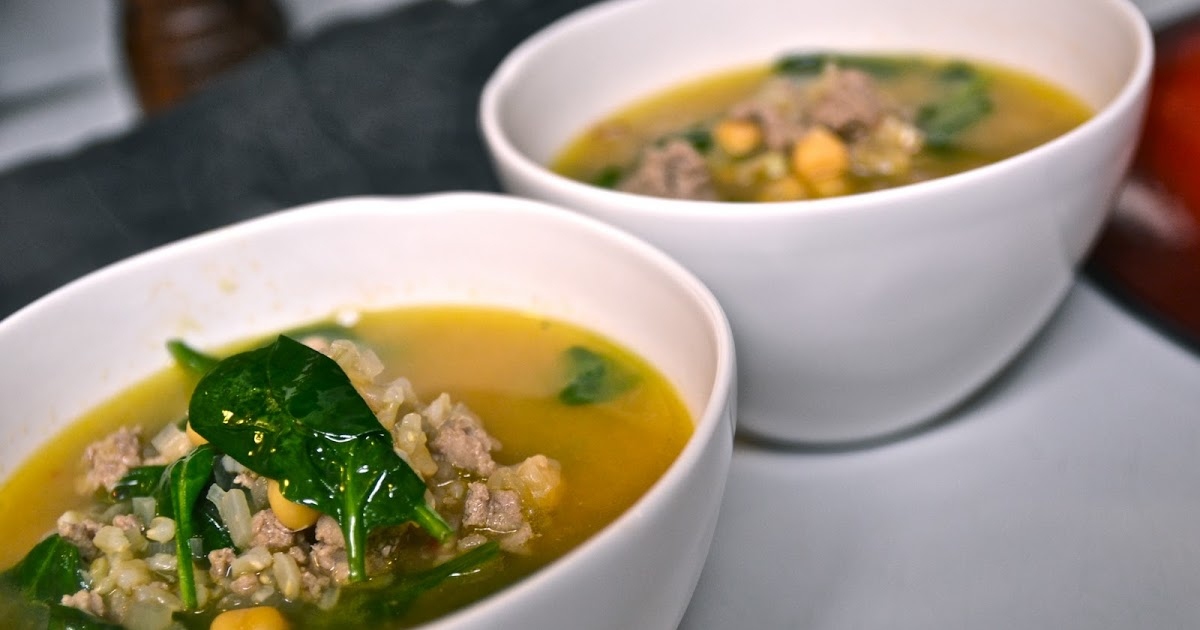 Explorations of an Amateur Cook: Hearty Spinach and Chickpea Soup