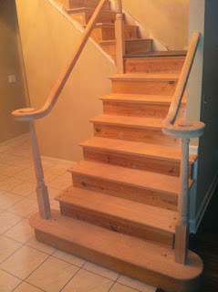 staircase contractor - new red oak stair treads steps. new jersey, nj