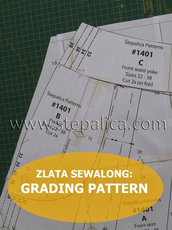 Zlata skirt sewalong: #3 Fitting alterations - grading the pattern