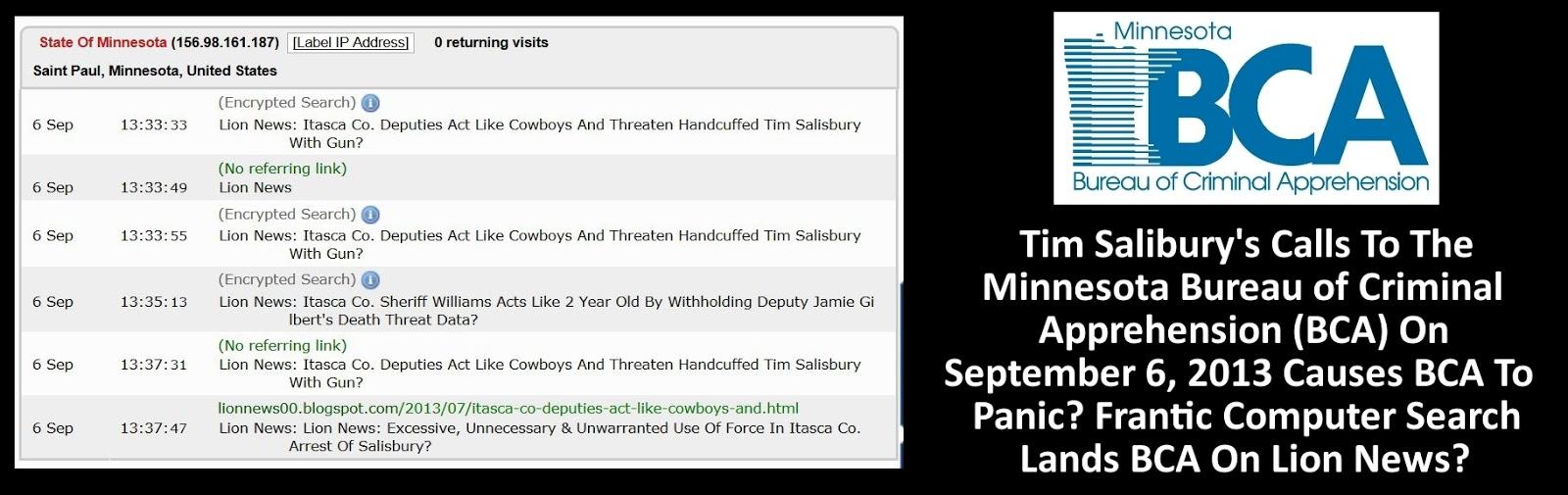 Lion news tim salisbury 39 s 09 06 13 complaint filed with the minnesota bureau of criminal - Criminal bureau of investigation mn ...