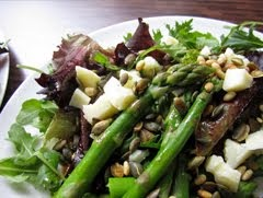 Asparagus, Manchego and Toasted Seed Salad