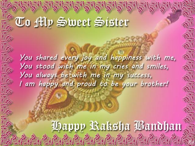 Raksha Bandhan SMS for Sister