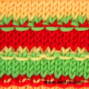 knitca: 5 colorful knitting stitch patterns