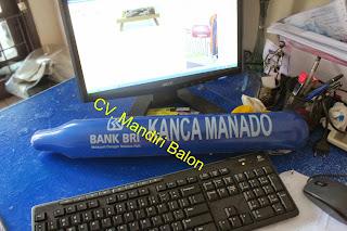 BALON SUPORTER LOGO BANK BRI KANCA MANADO