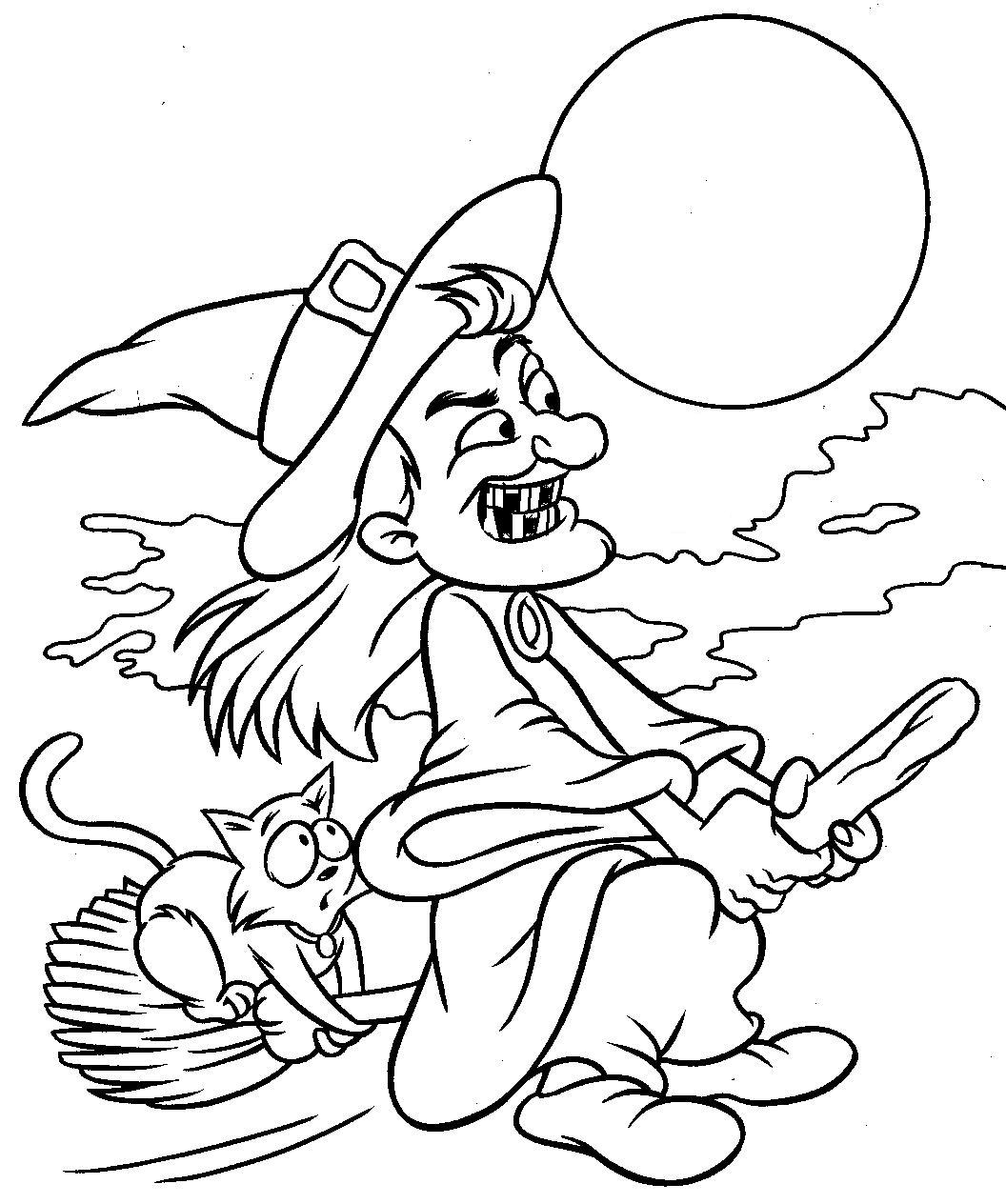 Kindergarten halloween colouring sheets - Kindergarten Halloween Colouring Sheets Witch House Coloring Pages Halloween Witch Home