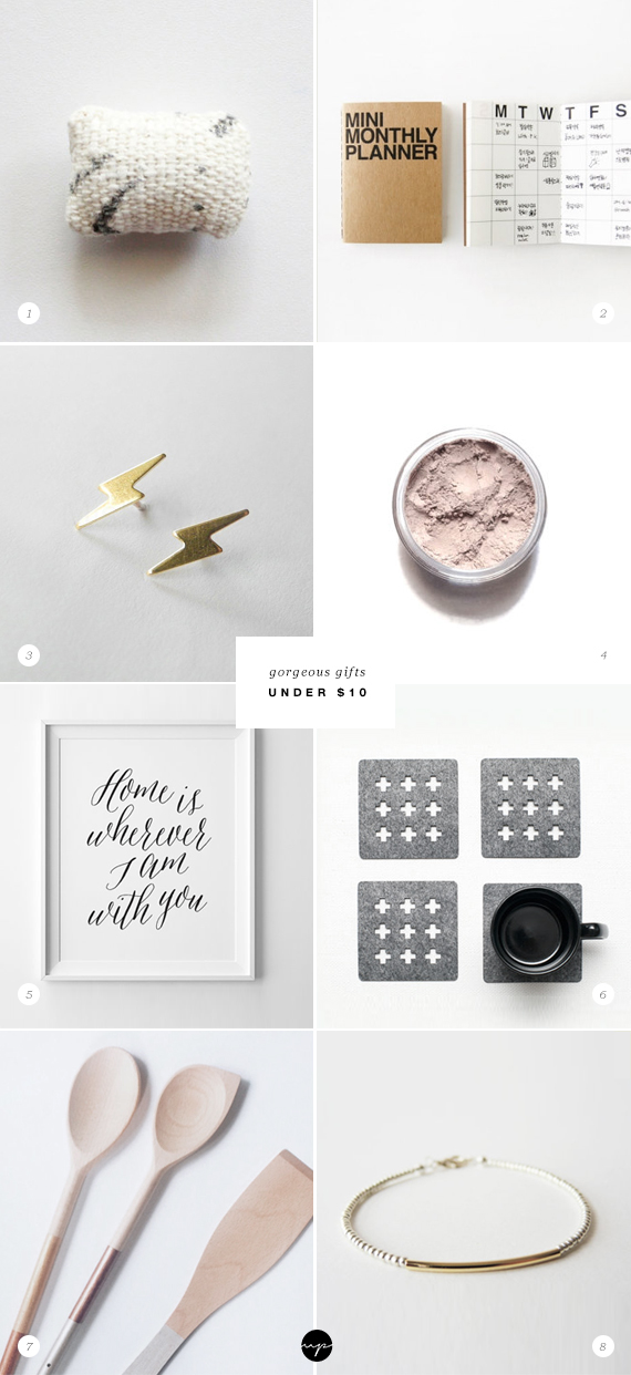 Gorgeous gifts under $10 | My Paradissi