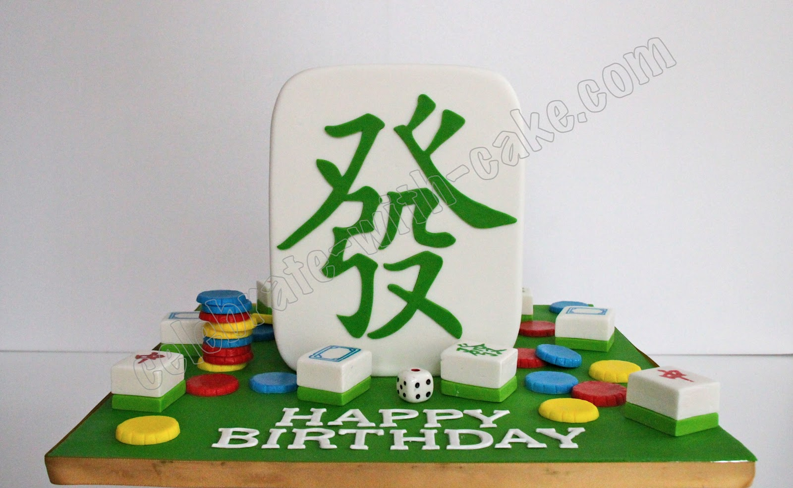 Celebrate With Cake Mahjong Themed Cake