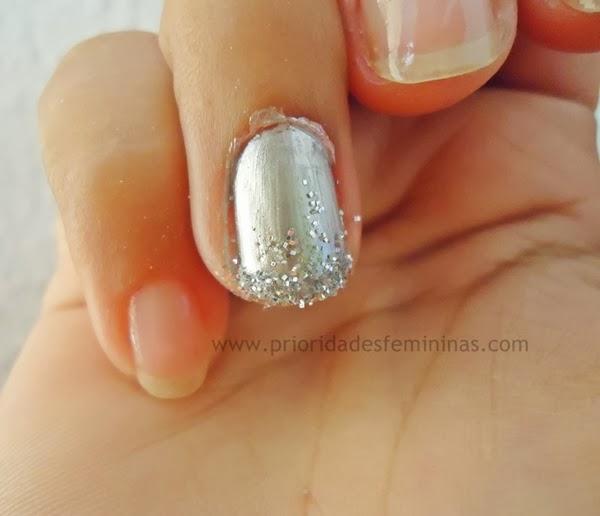 nail art prata reveillon