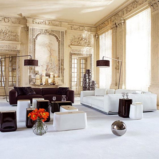 paris living room. dwellinginterior via bing com Living in Classic Style  Paris Room Designs