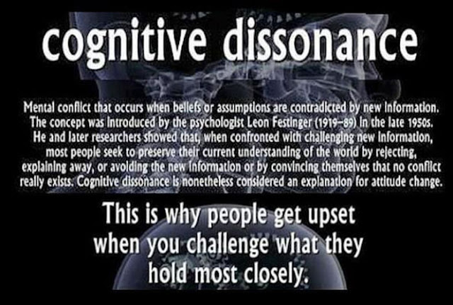 the concept of cognitive dissonance a disharmonious mental state 11 actions which indicate you're actually this article will focus on the 'actions' which indicate you're actually waking cognitive dissonance and.