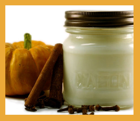 Handmade Pumpkin Spice Soy Candle from Blackberry Thyme
