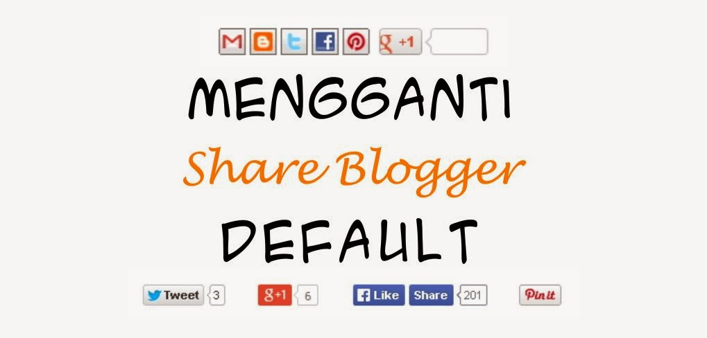 mengganti share blogger default