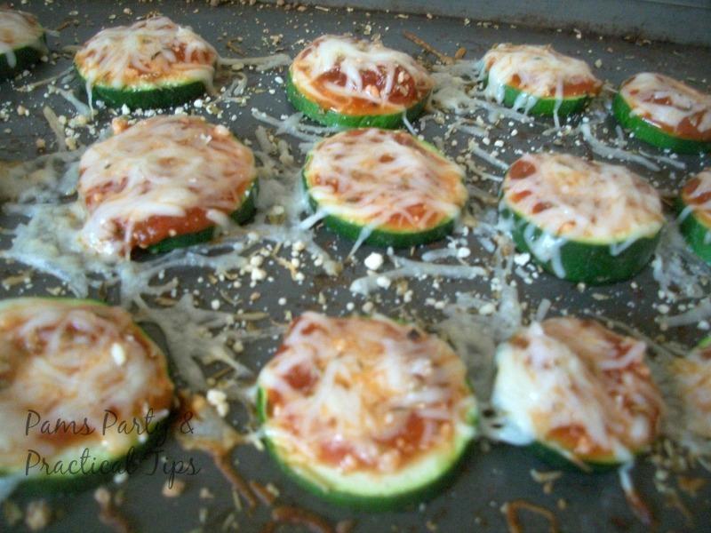Zucchini Pizza Bite Appetizers