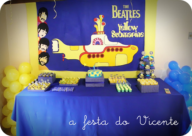 decoracao festa infantil yellow submarine:hoje vai ser uma festa!: Nossas festas: Yellow Submarine (primeiro