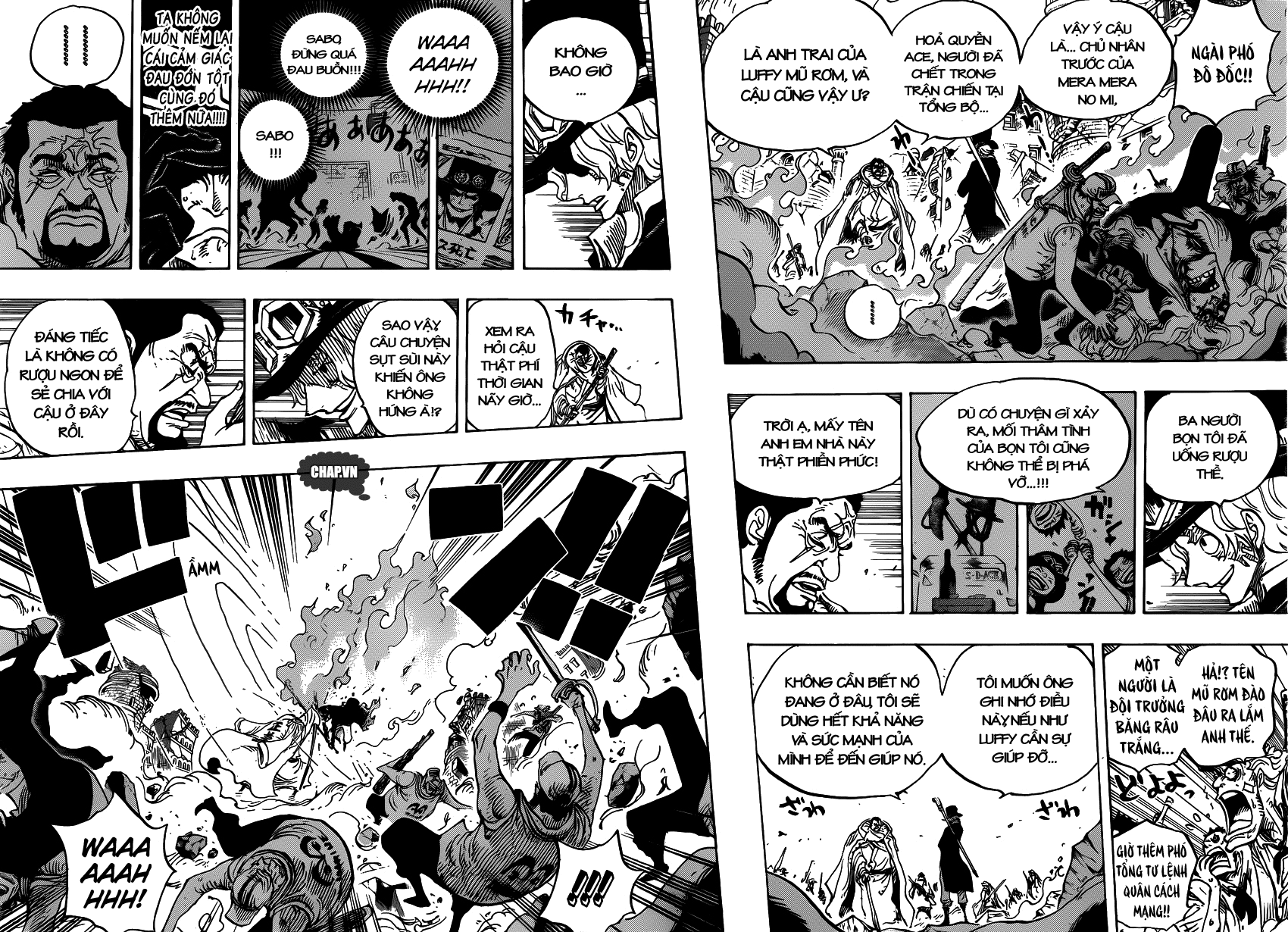 One Piece Chapter 751: Sabo vs. Đô đốc Fujitora 007