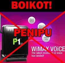 p1 wimax penipu, p1 wimax menipu