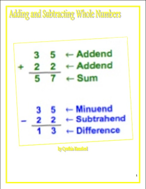 math worksheet : mrs hansford s classroom adding and subtracting with whole  : Adding And Subtracting Whole Numbers Worksheets