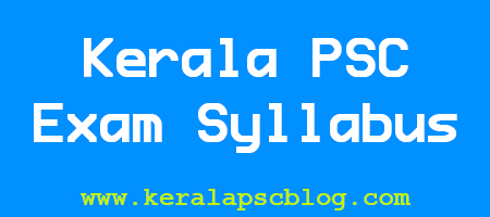Kerala PSC Laboratory Technical Assistant Exam Syllabus