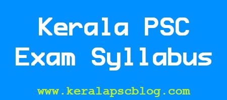Kerala PSC Laboratory Technical Assistant Exam Syllabus