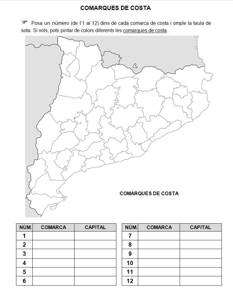 MEDI SOCIAL 4t de Primria Les comarques de Catalunya
