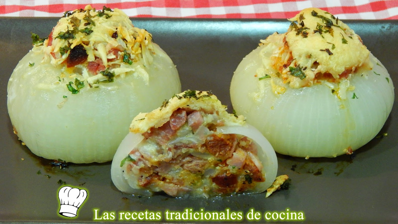 Cebollas gratinadas al horno