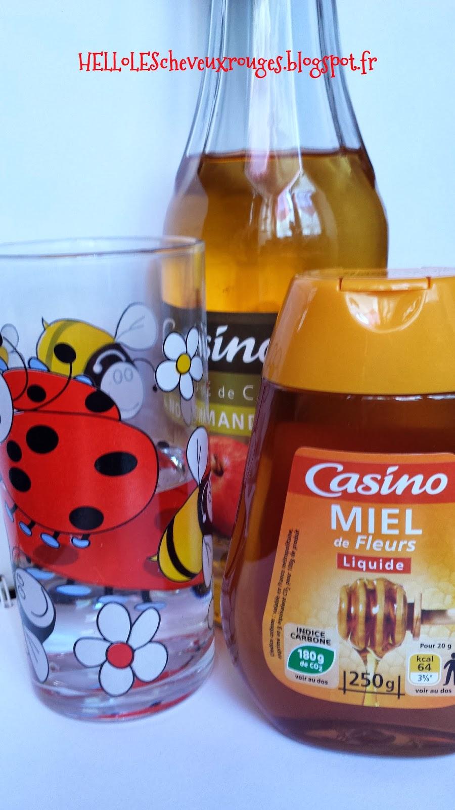 ingrédients qu'il faut vinaigre de cidre bio, miel et verre d'eau tiède
