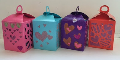 Tissue paper and card lanterns