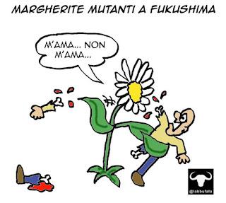 ambiente, fukushima, mutanti, mutazioni, radiazioni, vignetta umorismo