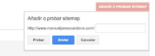 Añadir o Probar un Sitemap
