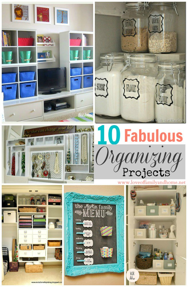 10 fabulous organizing projects linky party features Organizing home