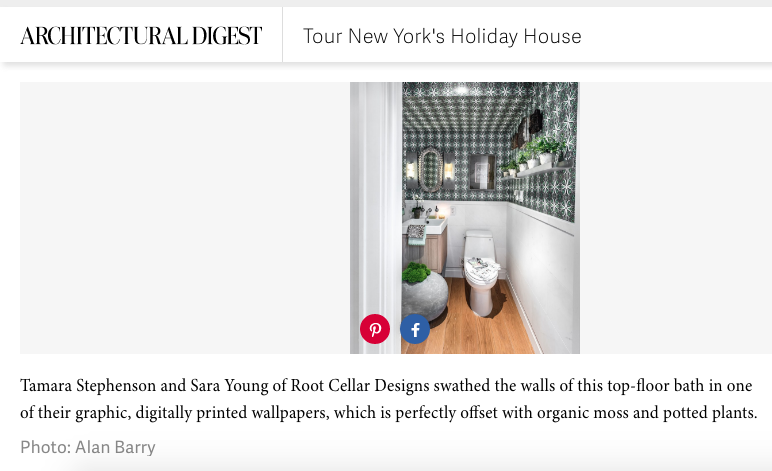 Thank you Architectural Digest for this Feature