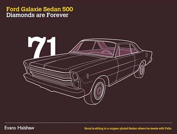 Carros James Bond - 007 - Ford Galaxie Sedan 500 - Diamonds are Forever