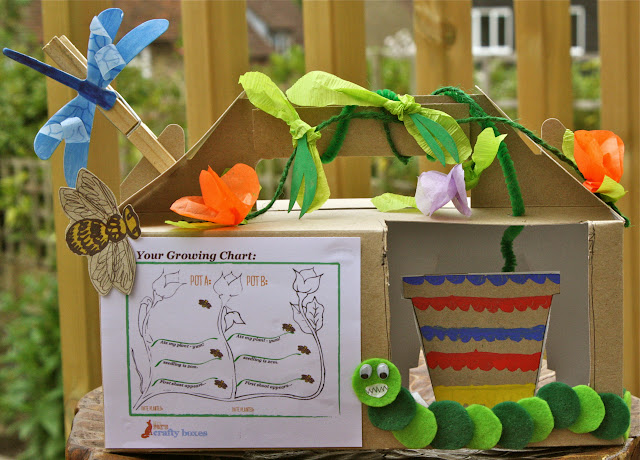 green kids craft box nature