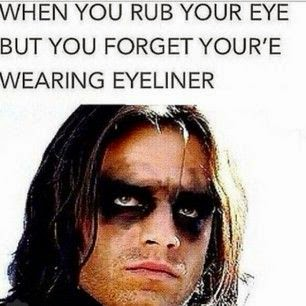 When you rub yours eyes funny pic