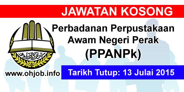 Jawatan Kerja Kosong Perbadanan Perpustakaan Awam Negeri Perak (PPANPk) logo www.ohjob.info julai 2015