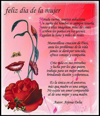 Tarjetas y Poemas para el día de la Mujer