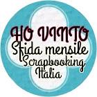 Ho vinto la sfida di Dicembre di Scrapbooking Italia