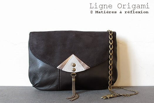 Pochette cuir vintage Origami by Matieres a reflexion
